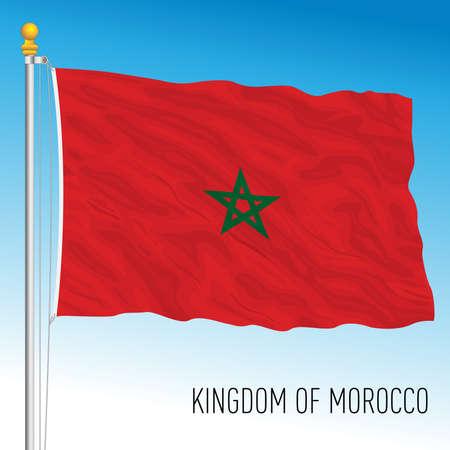 Morocco official national flag, african country, vector illustration Ilustración de vector