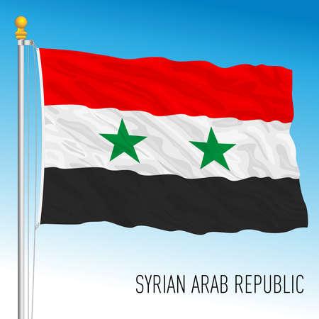 Syria official national flag, asiatic country, vector illustration Ilustración de vector