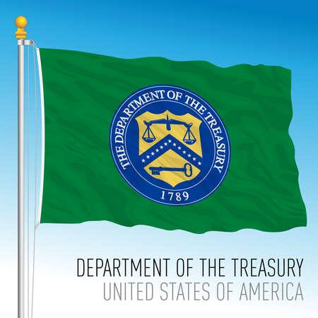US Department of Treasury flag, United States, vector illustration 向量圖像