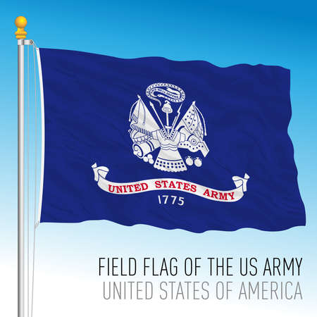US Army field flag, United States of America, vector illustration