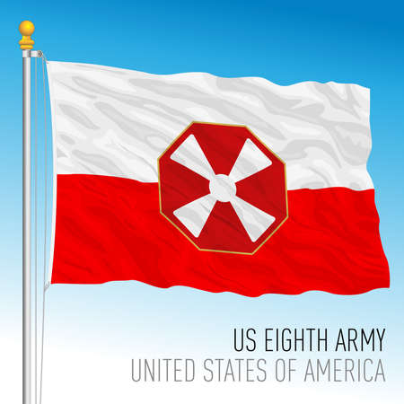 US Eighty Army flag, United States of America, vector illustration