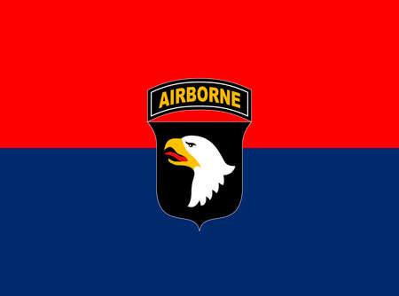US 101st Airborne Division flag, United States of America, vector illustration 向量圖像