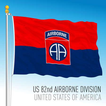 US 82nd Airborne Division flag, United States of America, vector illustration 向量圖像