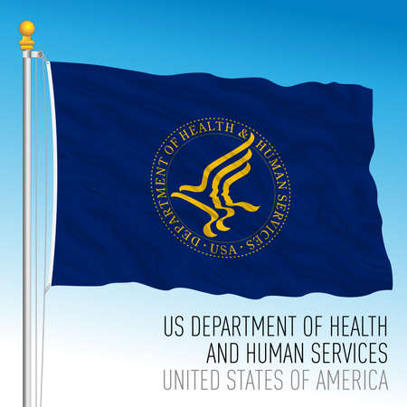 US Department of Health and Human Services, United States of America, vector illustration 向量圖像