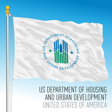 US Department of Housing and Urban Development flag, United States of America, vector illustration