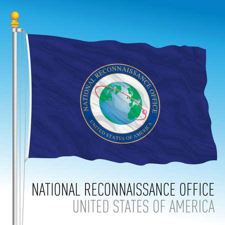 US National Reconnaissance Office flag, United States of America, vector illustration 向量圖像