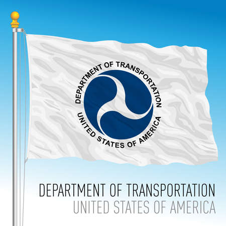US Department of Transportation flag, United States of America, vector illustration