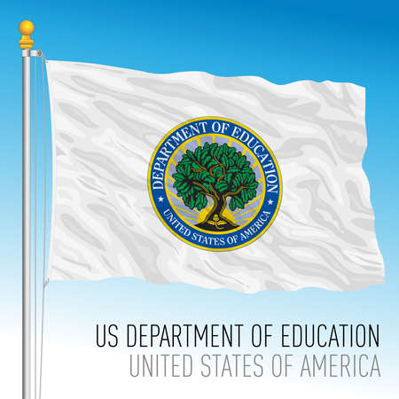 US Department of Education flag, United States of America, vector illustration