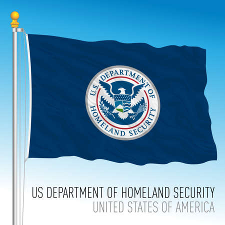 US Department of Homeland security flag, United States of America, vector illustration