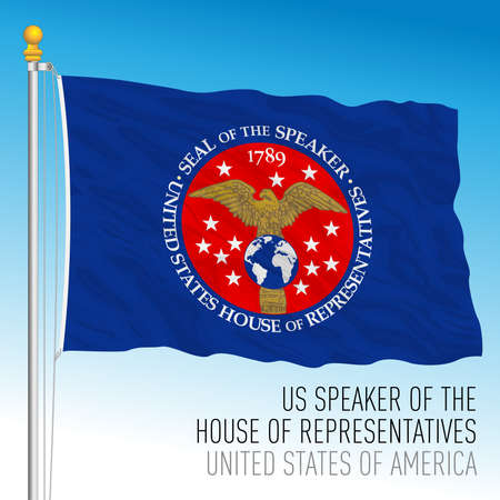 US Speaker of the House of the Representatives flag, United States of America, vector illustration