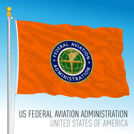 US Federal Aviation Administration flag, United States of America, vector illustration