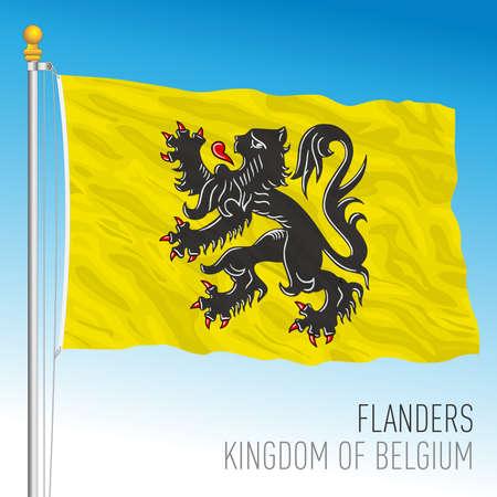 Flanders regional flag, Kingdom of Belgium, vector illustration