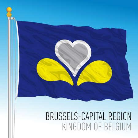 Brussels capital regional flag, Kingdom of Belgium, vector illustration Иллюстрация
