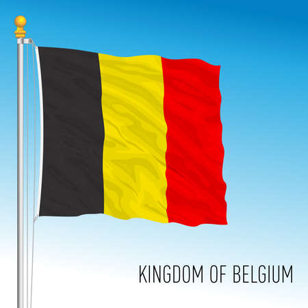 Kingdom of Belgium official flag, European Union, vector illustration