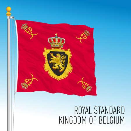 Royal Standard of Kingdom of Belgium flag, Europe, vector illustration Иллюстрация