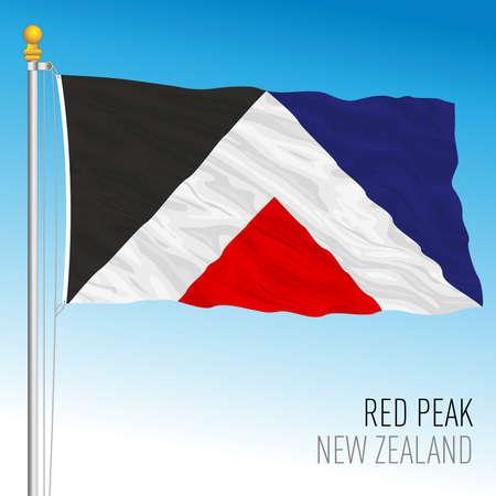 New Zealand Red Peak new flag, vector illustration