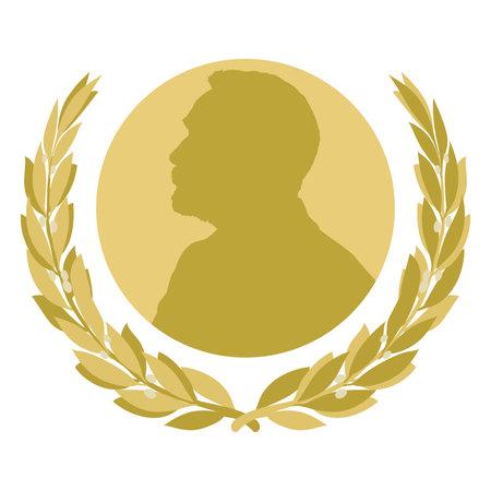 Nobel prize fantasy symbol, Sweden, vector illustration Иллюстрация