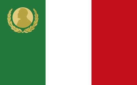 Italian flag with Nobel prize symbol, Italy, vector illustration Иллюстрация