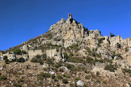 hilarion: Monastery Saint Hilarion Castle on mountain in Cyprus.