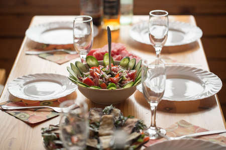 well laid: Beautifully laid table Stock Photo