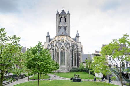 Church of St Nicholas in the Ghent, Belgium Stock Photo