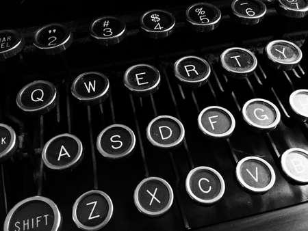 noire: Vintage typewriter keys.