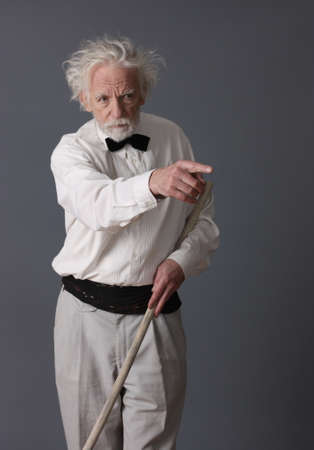 aristocratic: Aristocratic aged man say attention Stock Photo