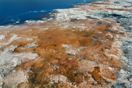 saturate: Coast estuary salt, natural sea salt, a salt lake