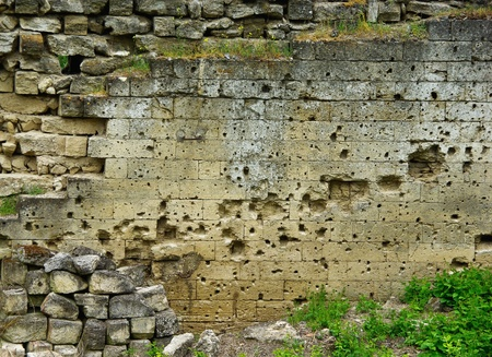 countries to break the fortress with traces of bullets photo