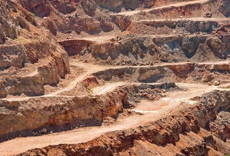 Mining industry landscape with open pit  Opencast background  photo