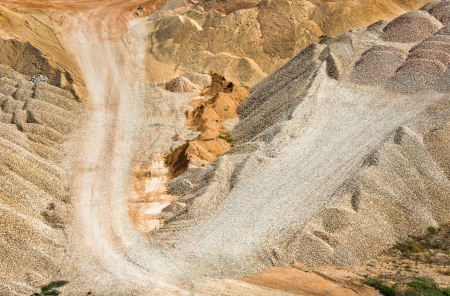 sand quarry: Opencast mine with sand and clay