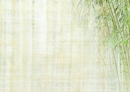 Chinese ancient background with bamboo photo