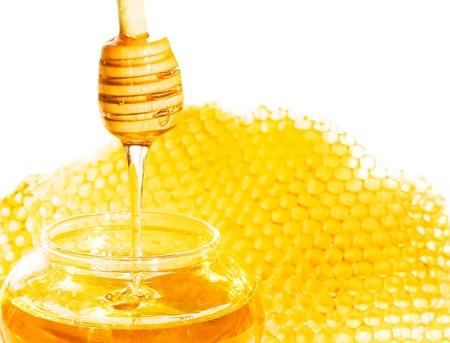colmena: Miel con panal de cera