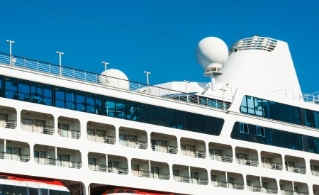watercraft: Sea travel background  Vacation on board the cruise ship