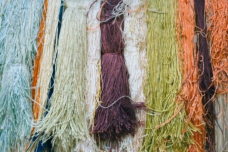 woven: Colorful silk yarns