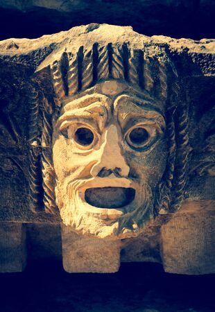 tragic: Antique tragic mask