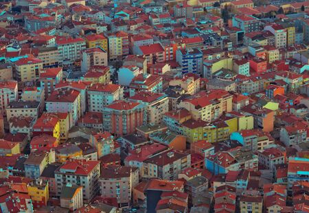 architectural styles: Town roofs - architectural background of cityscape.