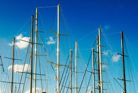 Sailboat masts background