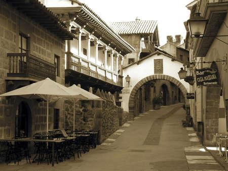 Street en Barcelona  Foto de archivo