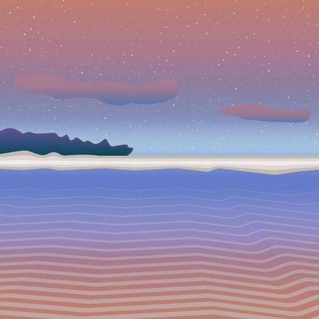 nice background: Pastel sea landscape. Nice background simple art