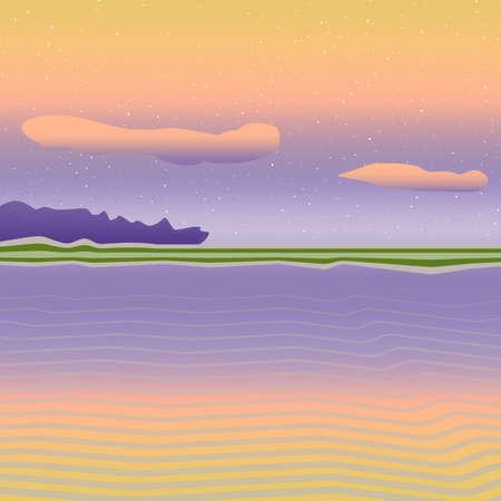 nice background: Bright sea landscape. Nice background simple art Illustration