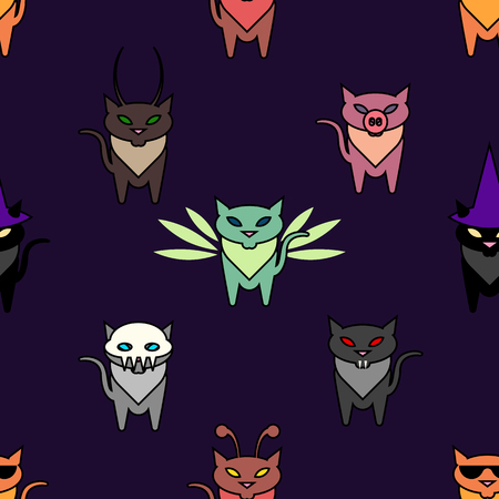 hallowen: Cute Hallowen cats on the purple background. Simple and nice illustration