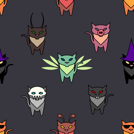 hallowen: Cute Hallowen cats on the grat background. Simple and nice illustration Illustration
