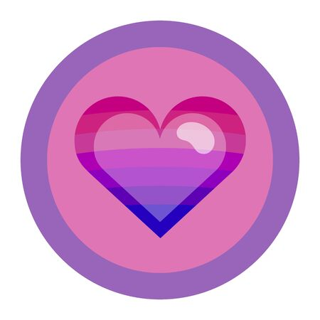 bisexual: Bisexual colors love symbol. Nice and simple illustration Illustration