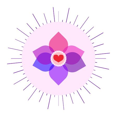 life event: Bysexual colors sunny symbol. Nice and simple illustration