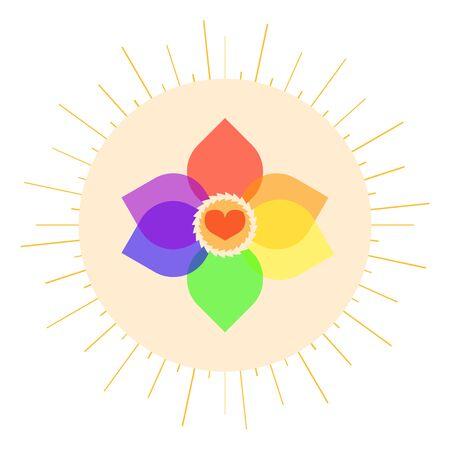 bisexual: LGBT pastel love symbol. Nice and simple illustration Illustration