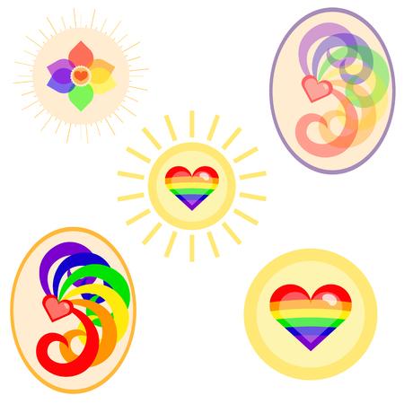 community event: LGBT flag colors symbols set. Nice and simple illustration Illustration