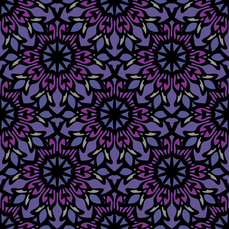 Elegant seamless pattern with Mandala and floral elements. Nice hand-drawn illustration Illustration