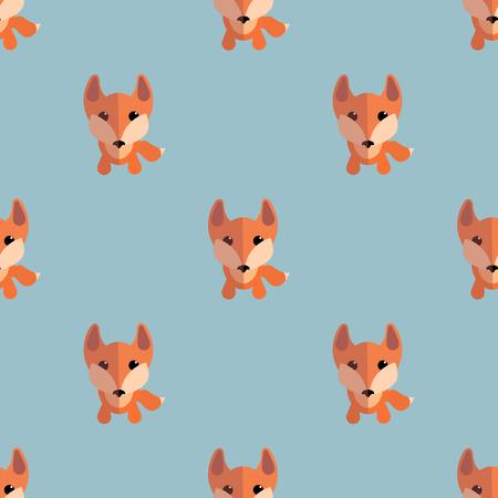 foxy: Cute foxes seamless pattern. Nice vector illustration Illustration