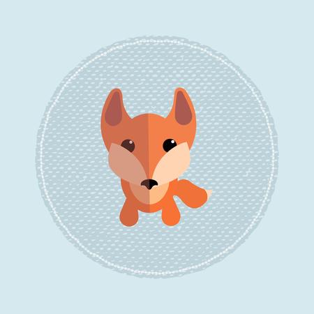 foxy: Little cute cartoon foxy. Nice vector illustration